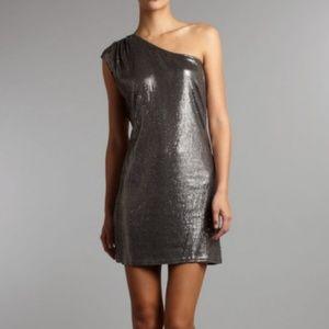 Michael Kors Plus Size Sequin One Shoulder Dress2X